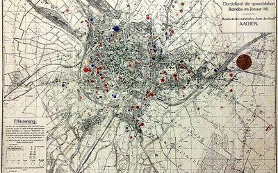 Aachener Textilfirmen – Kartierung für 1911 und 1935