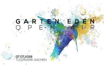 7. Juli 2018 | 10-22 Uhr | Garten Eden Open Air